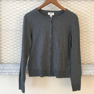 Ann Taylor LOFT Cardigan Sweater Charcoal Gray M